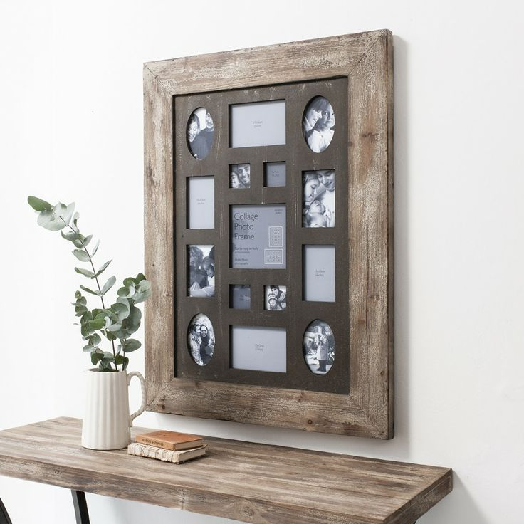 multi photo frame barrington collage frame rustic timber for the home pinterest photos multi photo and collage