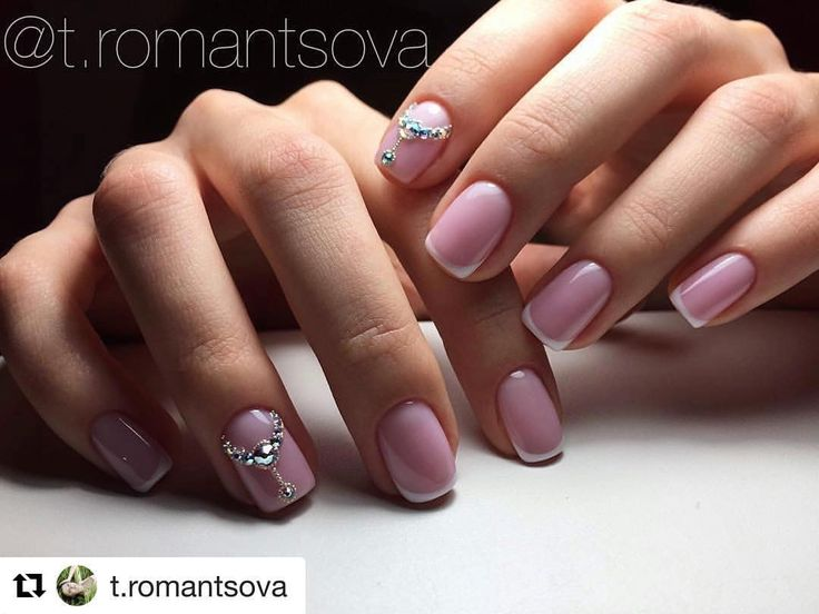 Pink nails will be trendy as usual. You can add this manicure with the thin white tips, which make your