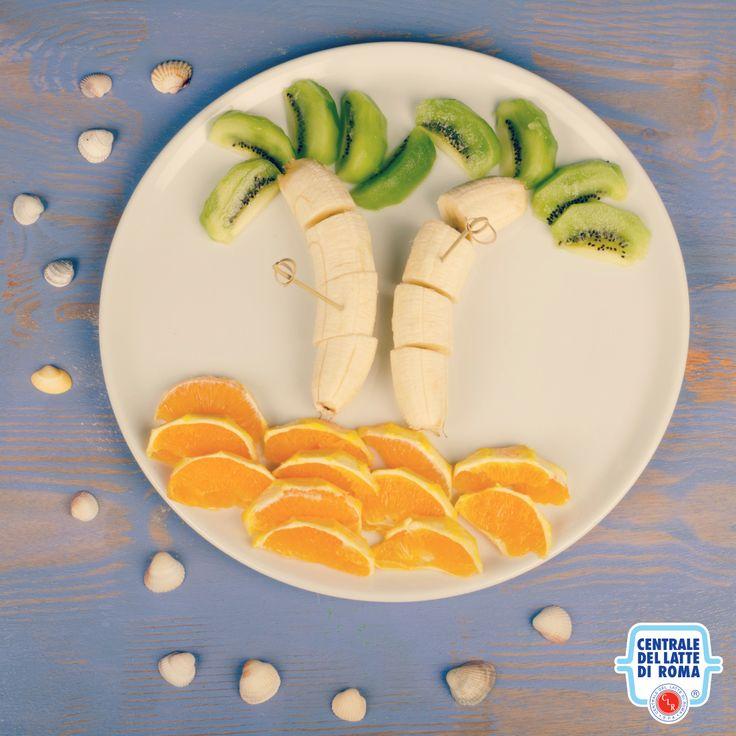Composizione di frutta con kiwi, banane e arance *** Kiwi, banana and orange fruit composition #fruitart #HealthyFood