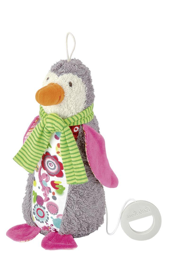 PINGÜINO NANA MUSICAL Juguete musical con música de Mozart. Para acompañar a tu bebé en sus noches. Medidas aproximadas: 28 cm  Edad recomendada: A partir de 0 meses PVP: 21 € #juguetemusical #bebes  http://www.babycaprichos.com/pinguino-nana-musical.html
