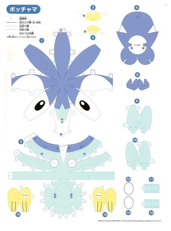 Pokemon Papercraft Articuno | Papercraft Pokemon http://xissdeeblog.blogspot.com/2008/12/piplup ...