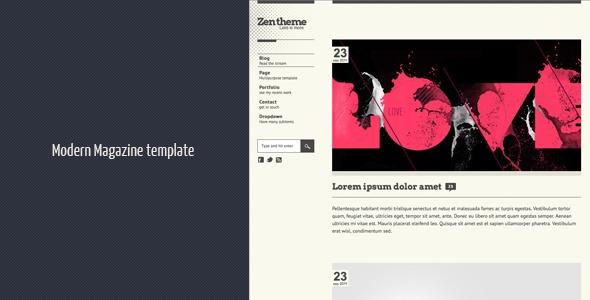 Zen HTML 5 template