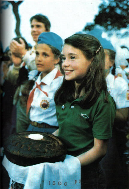 Samantha Smith, the little girl who wrote to Yuri Andropov, leader of the Soviet Union, to ask him a few questions.