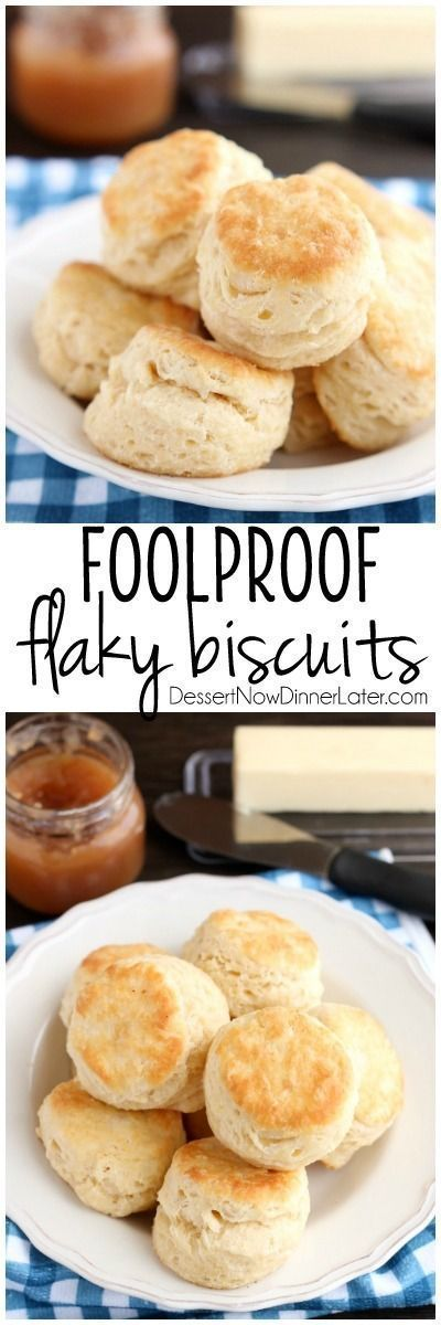 """""""The secret to Foolproof Flaky Biscuits is revealed! Find out how to get flaky, layered, buttery, tender biscuits you will swoon over! (Tips, Tricks, & Photo Tutorial Included!)"""" via Dessert Now Dinner Later - The Best Homemade Biscuits Recipes - Quick, Easy and Delicious Bread Sides for Breakfast, Brunch, Lunch and Family Dinner!"""