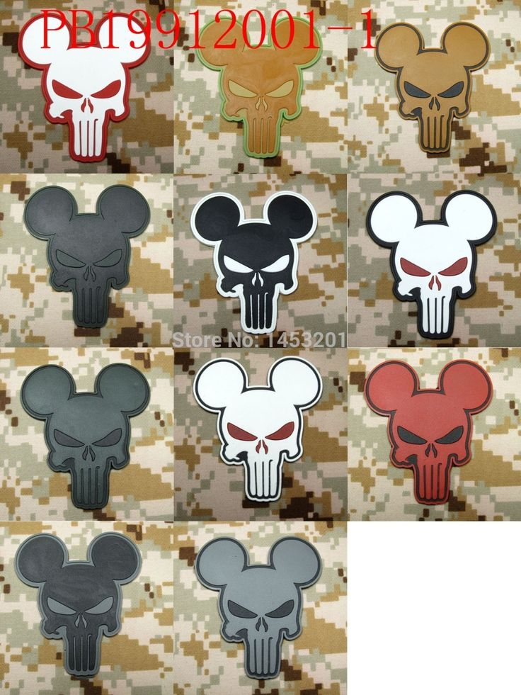 Cheap patch up, Buy Quality velcro military patch directly from China velcro patch hat Suppliers: The punisher Mickey Tactical Morale 3D PVC Velcro Patch