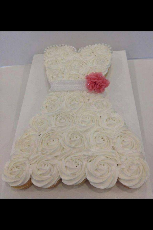 Bridal cupcake dress....for Sierra's Bridal Shower! :)