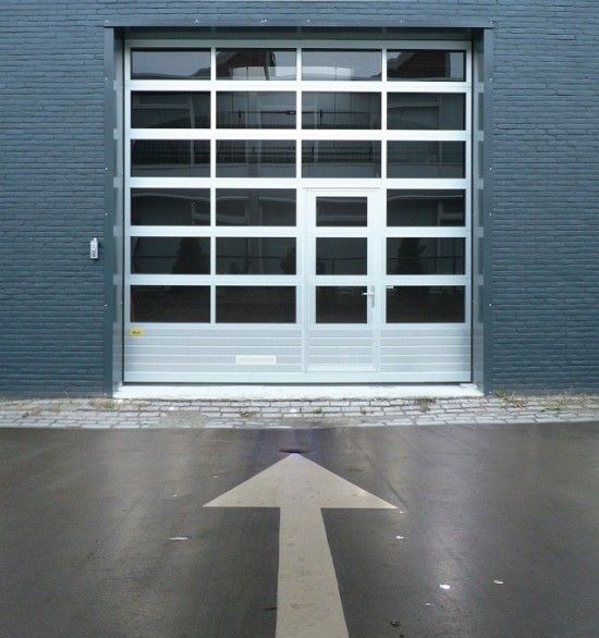 Glass Garage Door - something similar for the side that opens onto the backyard?