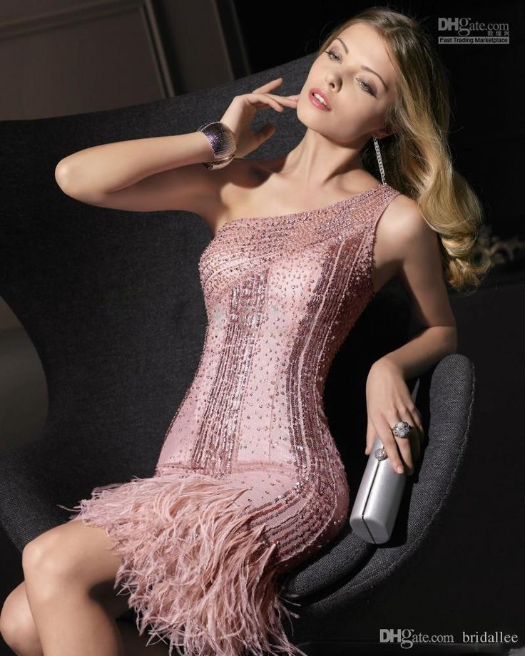 2016 Cocktail Party Dresses Short Pink One Shoulder 2015 Red Carpet Dresses Sequined Feather Beaded Sexy Sheath Hot Prom Vestidos De Coctel Lavender Cocktail Dress Off The Shoulder Cocktail Dress From Bridallee, $100.41| Dhgate.Com