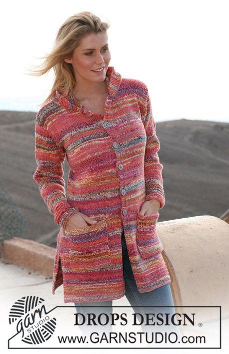 """Lang DROPS vest met capuchon van 2 draden """"Fabel"""". Maat S t/m XXXL. ~ DROPS Design; wauwww! Super mooi!"""