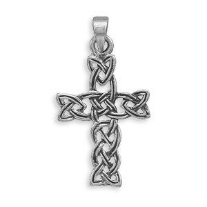 Celtic Cross Woven Oxidized Sterling Silver Pendant Only AzureBella Jewelry. $37.81. Includes black leather necklace. .925 sterling silver. Jewelry gift box included. Antique oxidized finish