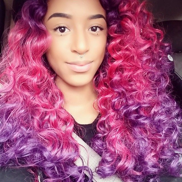 Terrific 1000 Ideas About Dyed Curly Hair On Pinterest Red Dip Dye Hairstyles For Women Draintrainus