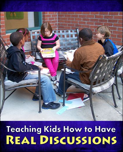 Strategies for Teaching Kids How to Have REAL Discussions - Great prep for literature circles! #LauraCandler #literaturecircles