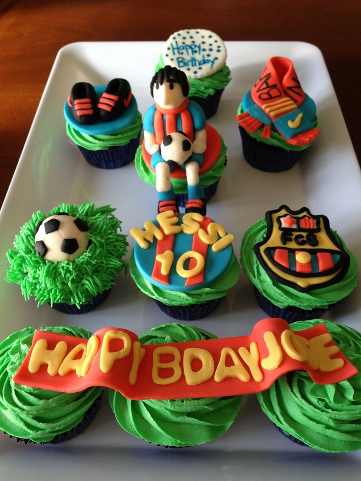 Soccer cupcakes My Own Baking And My Own DIY Projects ...
