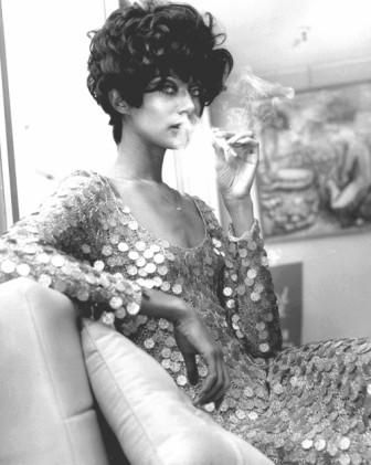 Donyale Luna,  (January 1, 1945 - May 17, 1979) born in Detroit, MI, was the first notable African American fashion model and the first black cover girl. She also appeared in several films, most notably as the title role in Salome.