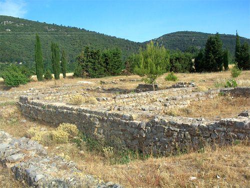 """The Gallic-Roman """"Marius"""" villa remains at La Roquebrussanne"""