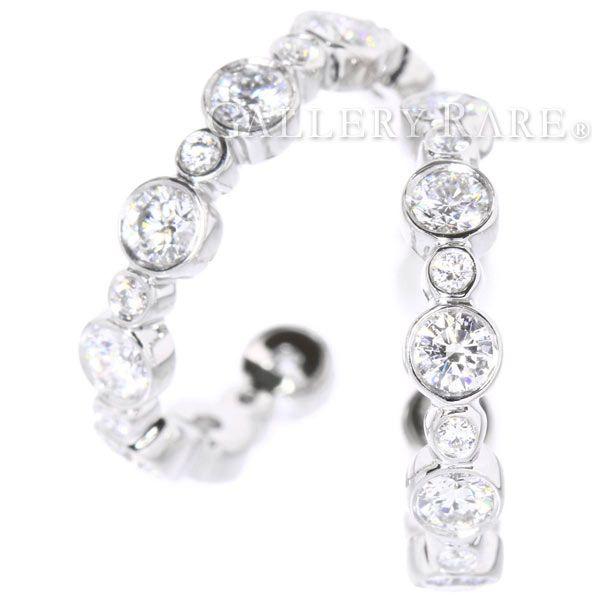 ティファニー ピアス ジャズ フープピアス ダイヤモンド プラチナ950 PT950 TIFFANY ジュエリー ダイアモンド