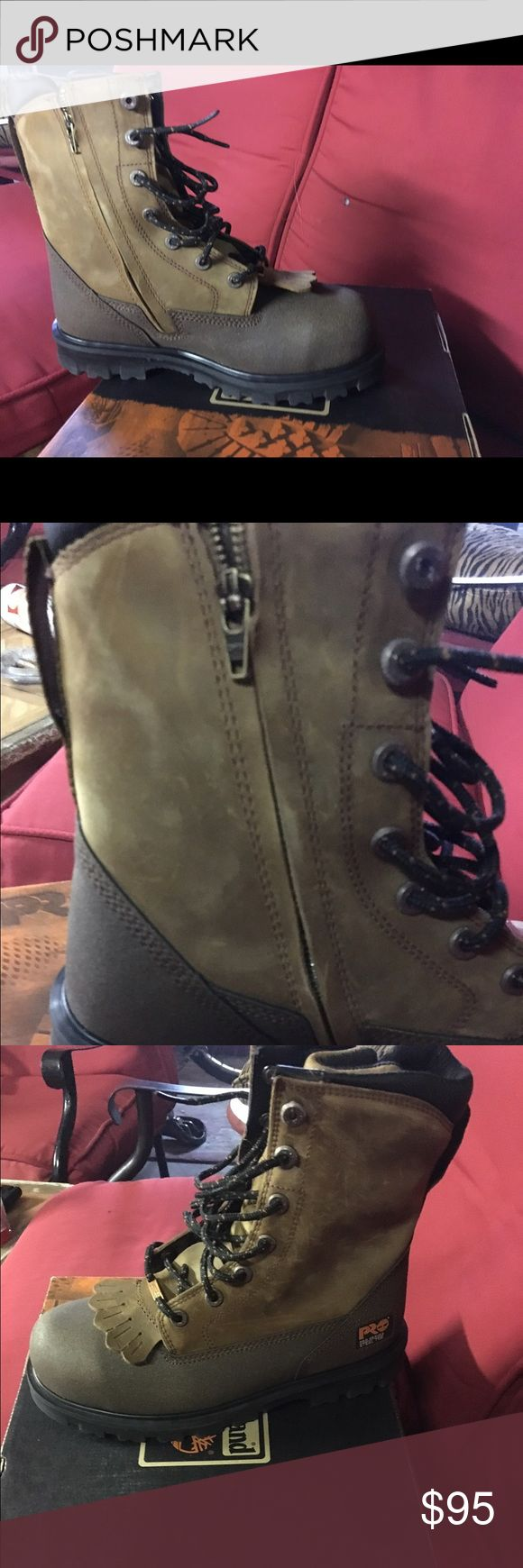 Timberland Lace Rigger Work Boots Brand new in box! Steel toe, water proof, oil and slip resistant. Timberland Shoes Boots