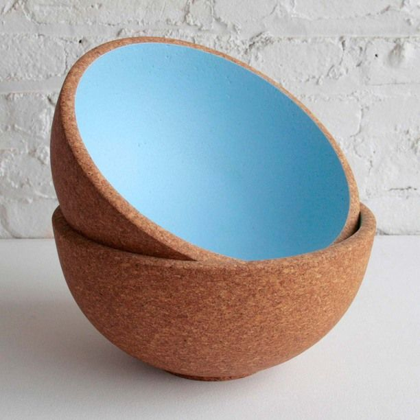 Praia Bowl Sky Blue blue, brown, serve