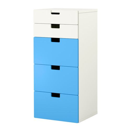 STUVA Storage combination with drawers - white/blue  - IKEA - Adrian's new room