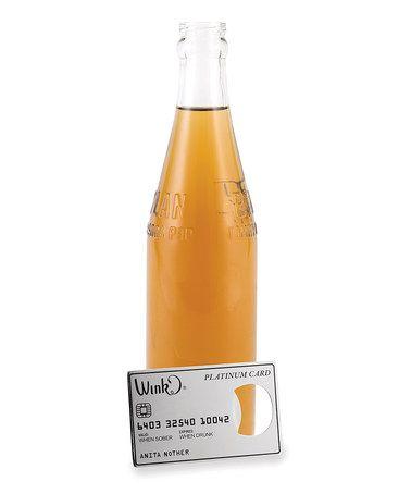 Love this Platinum Credit Card Bottle Opener by Wild Eye Designs on #zulily! #zulilyfinds