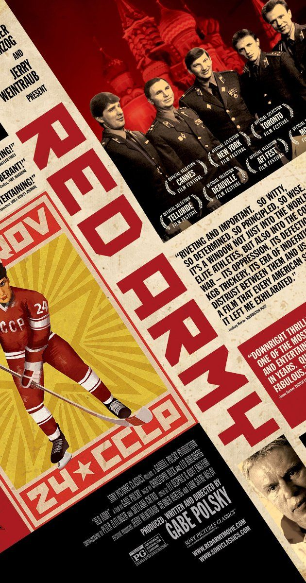 A documentary that tells the story of the Soviet Union's famed Red Army hockey team through the eyes of its captain, Slava Fetisov.