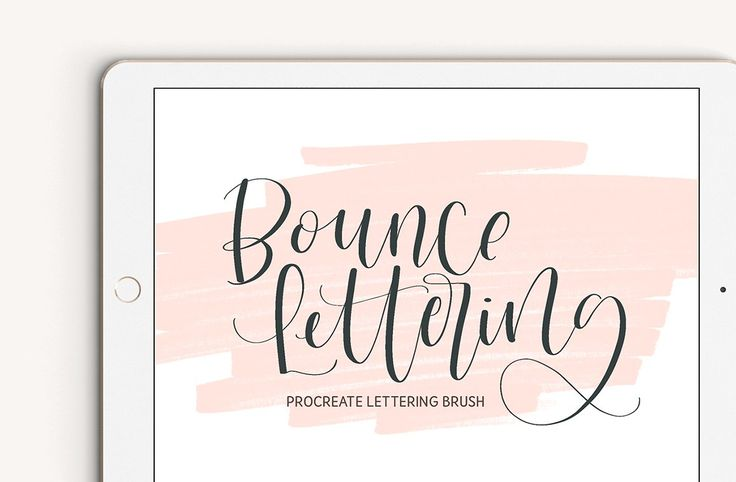 Bounce Lettering Procreate Brush by The Ampersand Shop on @creativemarket