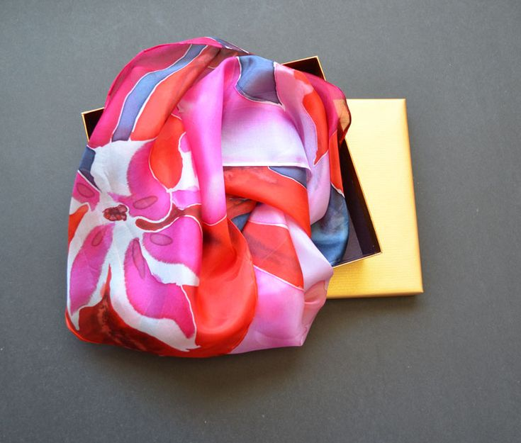 #Beautiful one of a kind hand painted #silk #scarf by EPstudio design