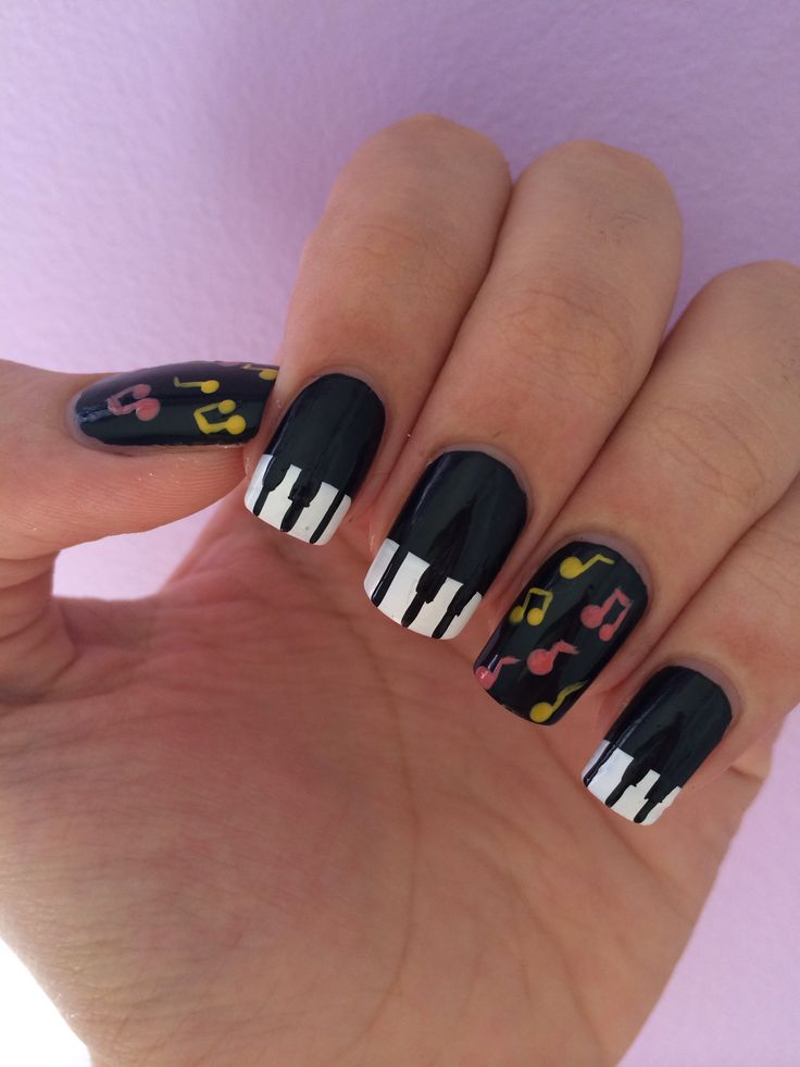 36 best piano nails nail art design tutorial video gallery by piano nails prinsesfo Images