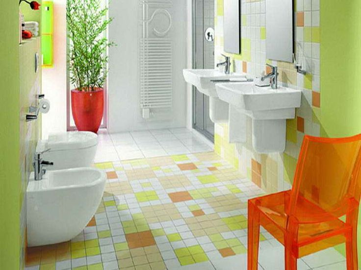 cute bathroom color ideas cheerful small bathroom tile ideas with colorful mosaic tiles and two frameless mirrors