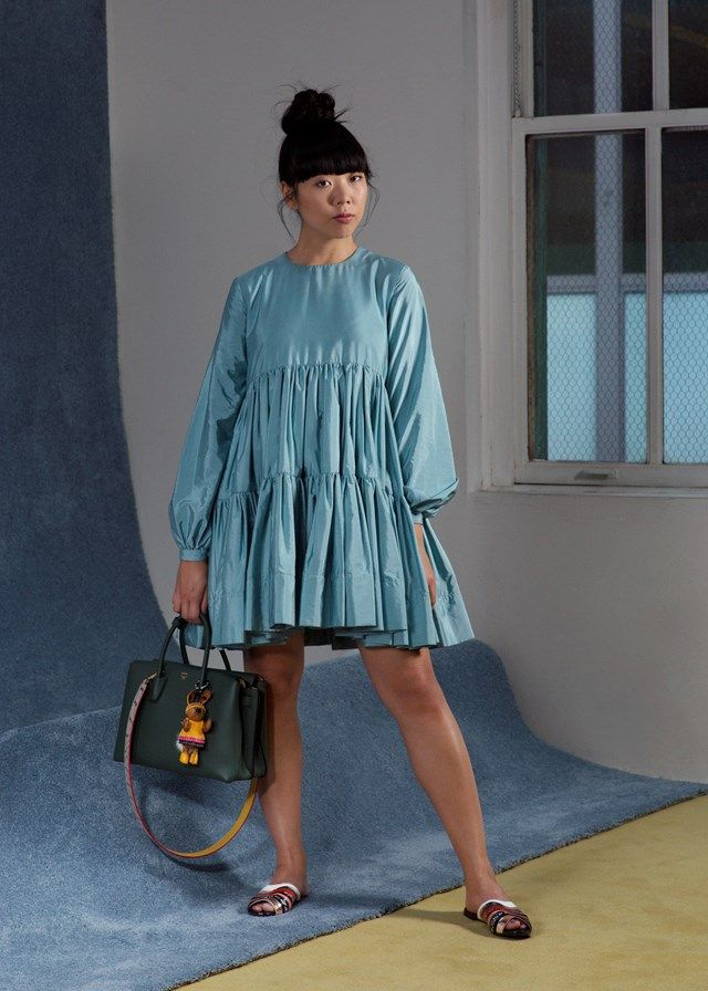 MOOD: This Molly Goddard smock dress is made for Susie Bubble.  She dresses it down with some flat, slip-on shoes.