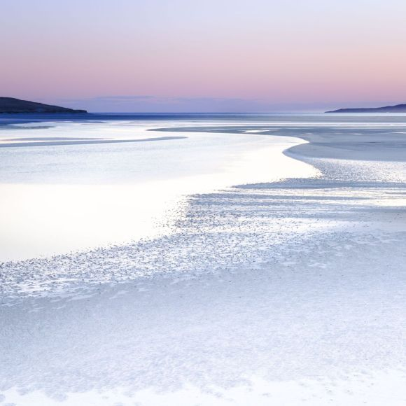 Silence in Silver, Isle of Harris - Extra large beach abstract in Pink and Grey