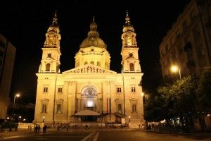 St. Stephen's Bailica by night