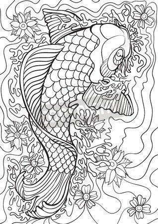 coloring wallpaper would you stick with the typical koi colors or would you get creative - Coloring Book Wallpaper