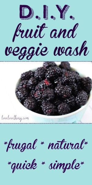 DIY essential oil fruit and vegetable wash