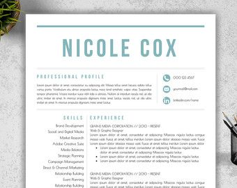 modern resume template cover letter reference by resumebook - Templates For A Resume