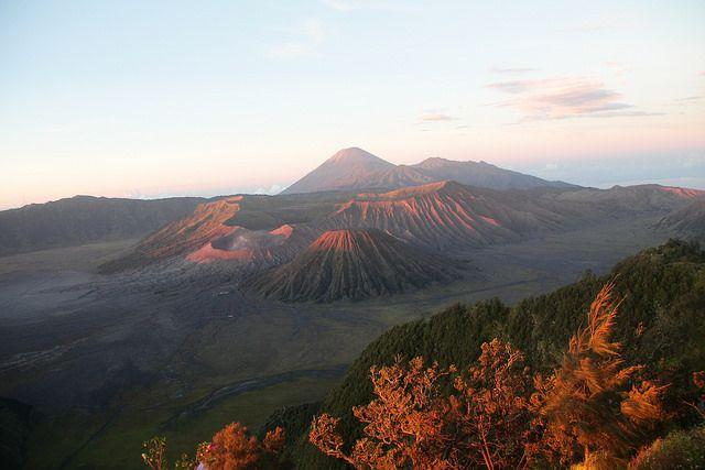 Breaking the dawn at mount Bromo