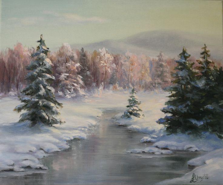 Frozen brook by Lidia Olbrycht