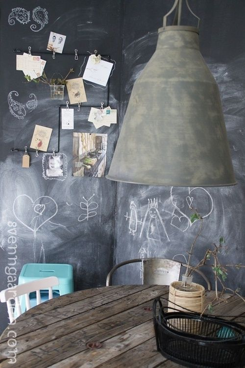 Life lessons  warmfuzzzies:    Chalkboard Paint@Pinterest