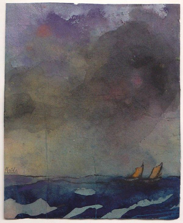 Meer mit zwei Seeglern, Emil Nolde.