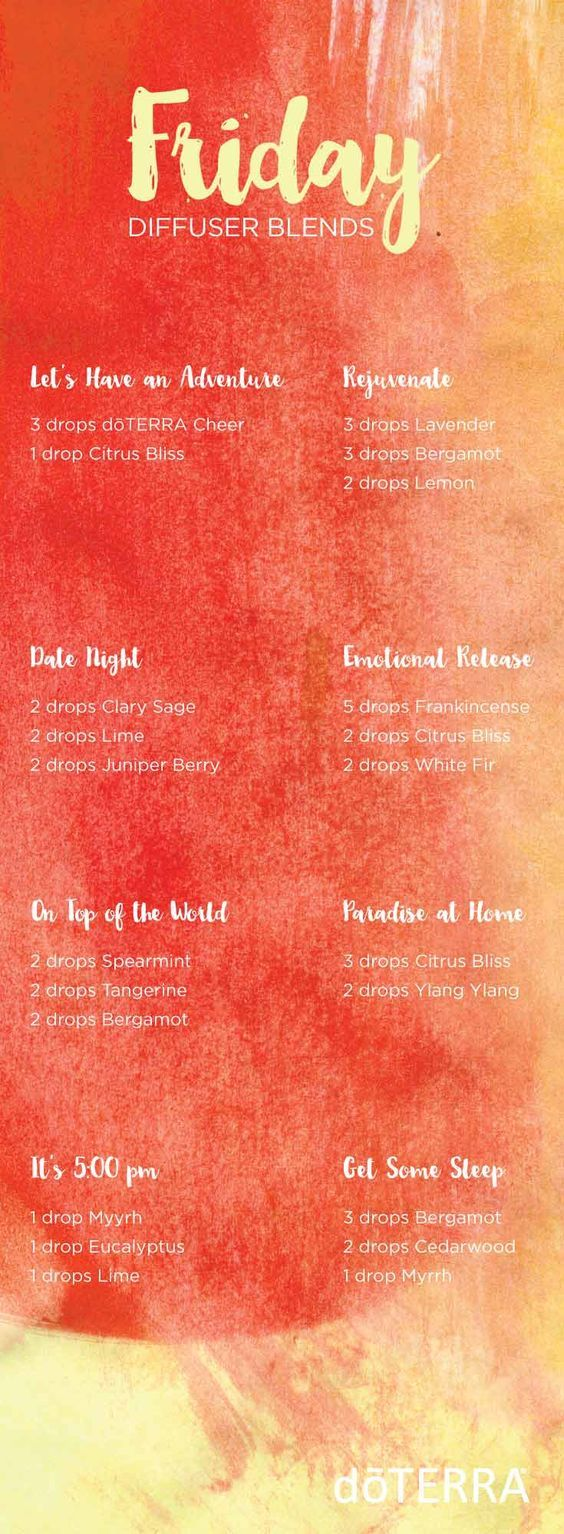 doTERRA essential oil diffuser blends for Fridays!! | doTERRA essential oils