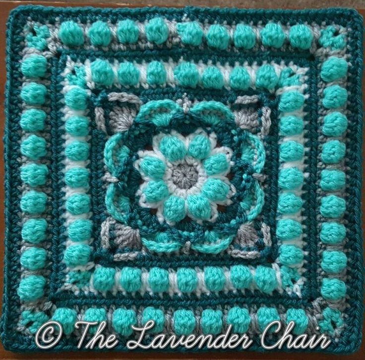Lotus Flower Mandala Crochet Square Pattern