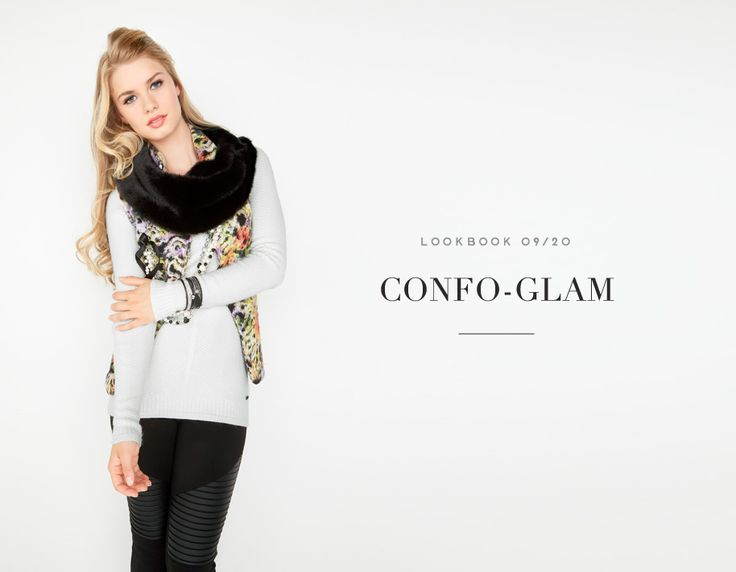 CONFO-GLAM // COLD DAYS, WARM HEART #fur #jacket # flowers #yellow #vest #sweater #soft #knit #offwhite #knitwear #leather #pants #comfy #softness #scraf #fur #cozy #cold #winter #automn #fall #coldays #warm #outfit #mode #glam #fashion #femme #women #lookbook #fw16