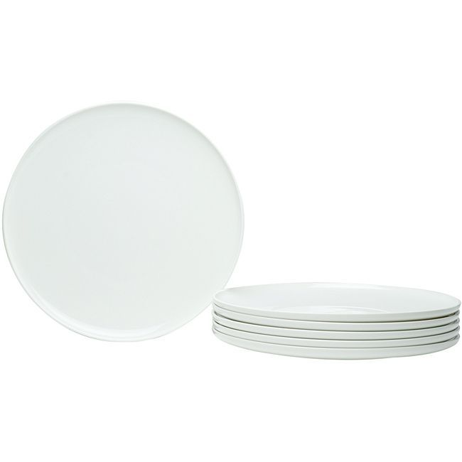 Red Vanilla Everytime White Coupe 11-inch Dinner Plates