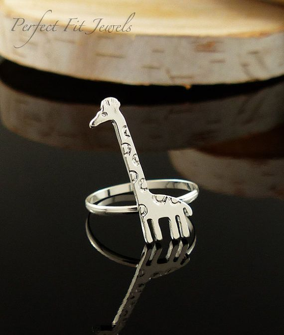 2015 minimalistische sieraden leuke tiny dier giraffe ring charm huwelijkscadeau knuckle ringen in goud/zilver/rose goud(China (Mainland))