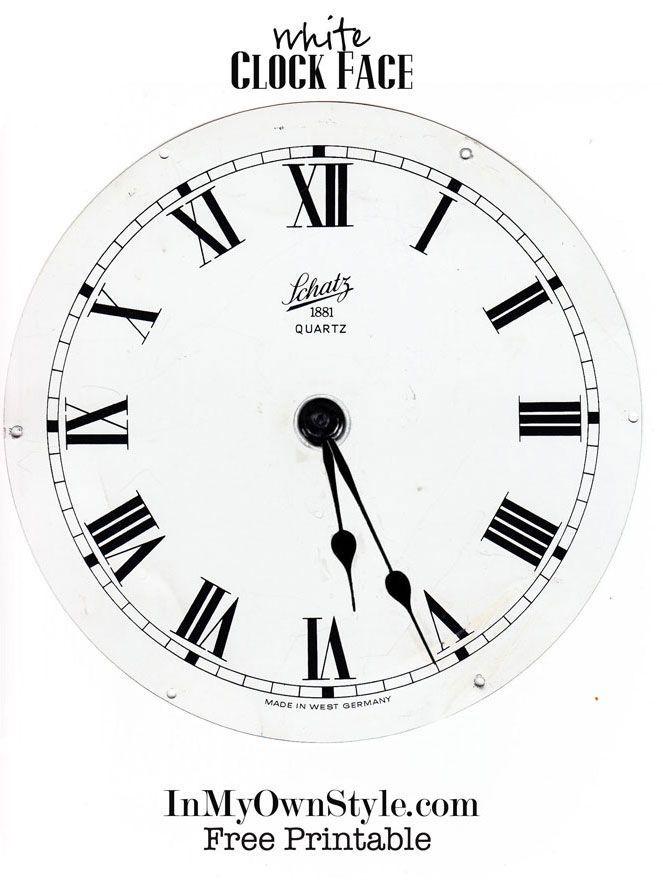 Sin imprimir-Reloj-Cara-blanco-negro-con-números