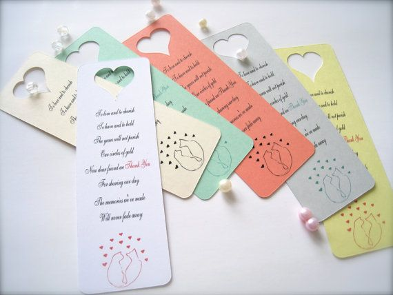 Mini bookmarks wedding favors thank you by PaperLovePrints on Etsy, $14.99 #PCFTeam