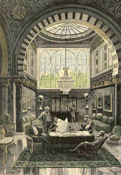 Jules Verne, Le testament d'un excentrique (1899) Illustrations by George Roux