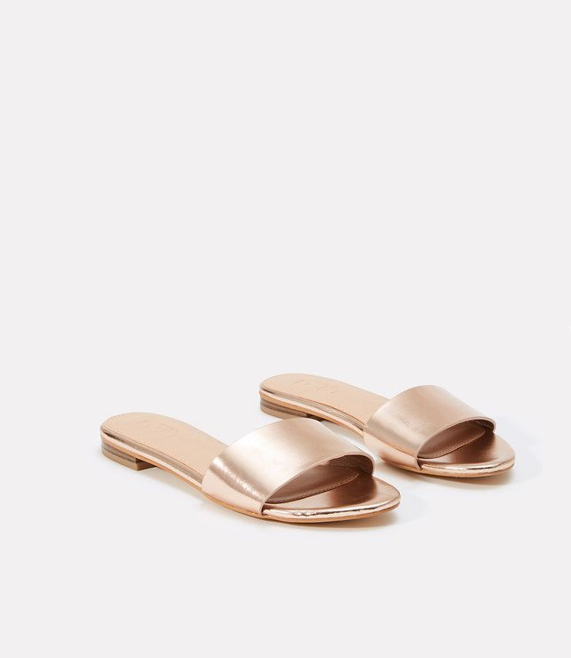 Primary Image of Metallic Slide Sandals