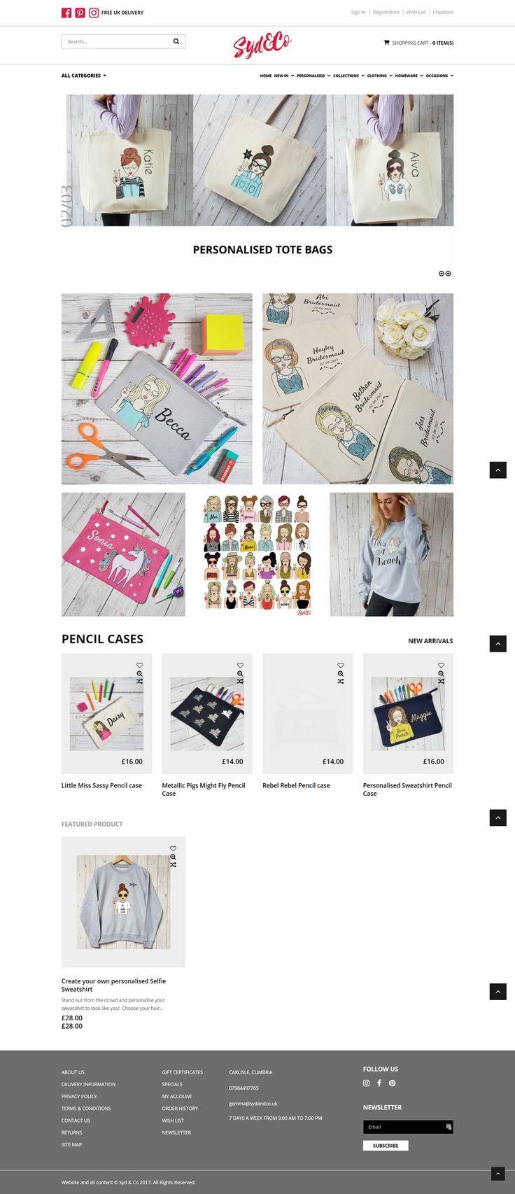 A fully comprehensive e-commerce website design for Syd & Co in Carlisle, Cumbria