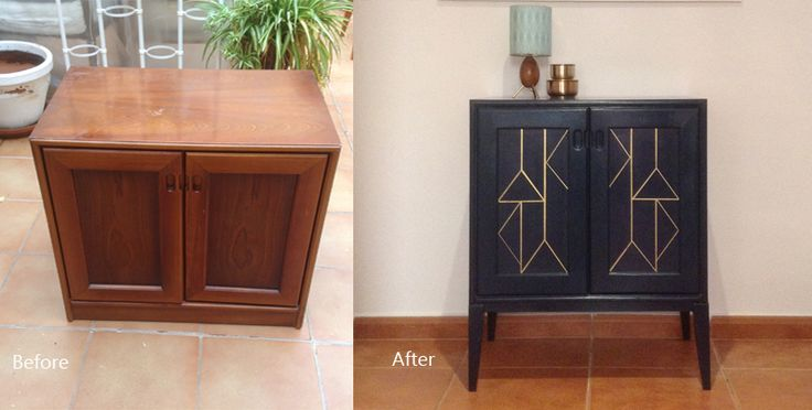 Blue geometric cupboard - before + after close up.jpg